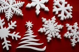 Wycięte ozdoby świąteczne z eps (styropianu)