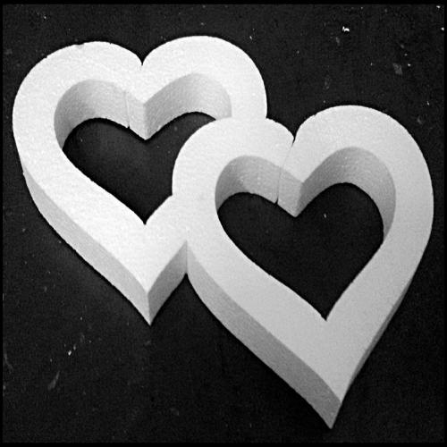 Wycięte serca z eps (styropianu)