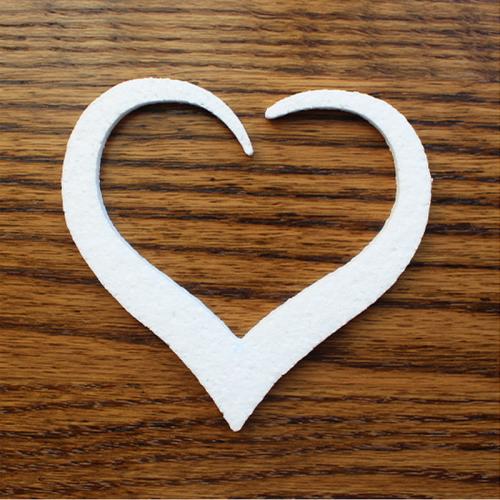 Wycięte serce z eps (styropianu)