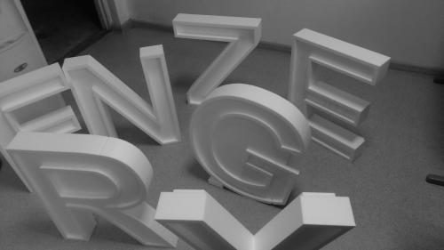 Wycięte litery z eps (styropianu)