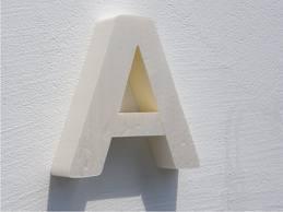 Wycięta liter A z eps (styropianu)